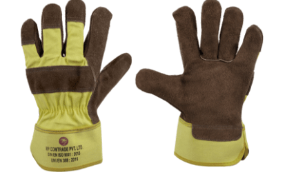 dual toned leather gloves