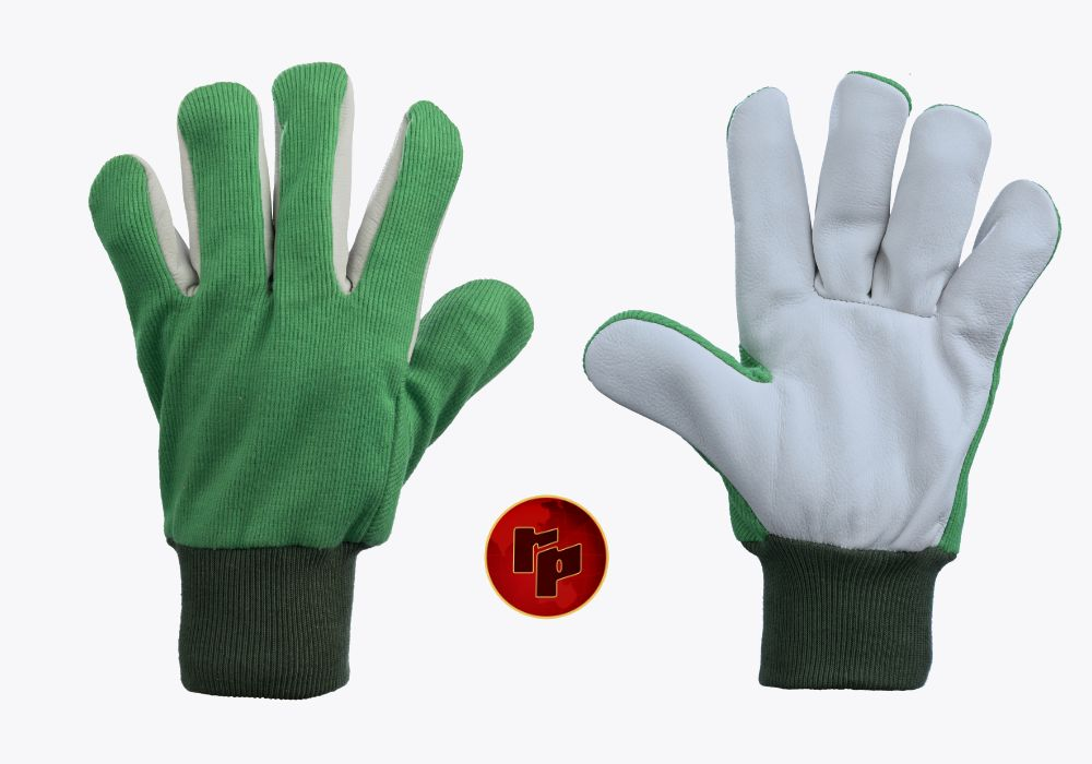 RPC029 A_CHROME _ KNITTED FABRIC DRIVING GLOVES
