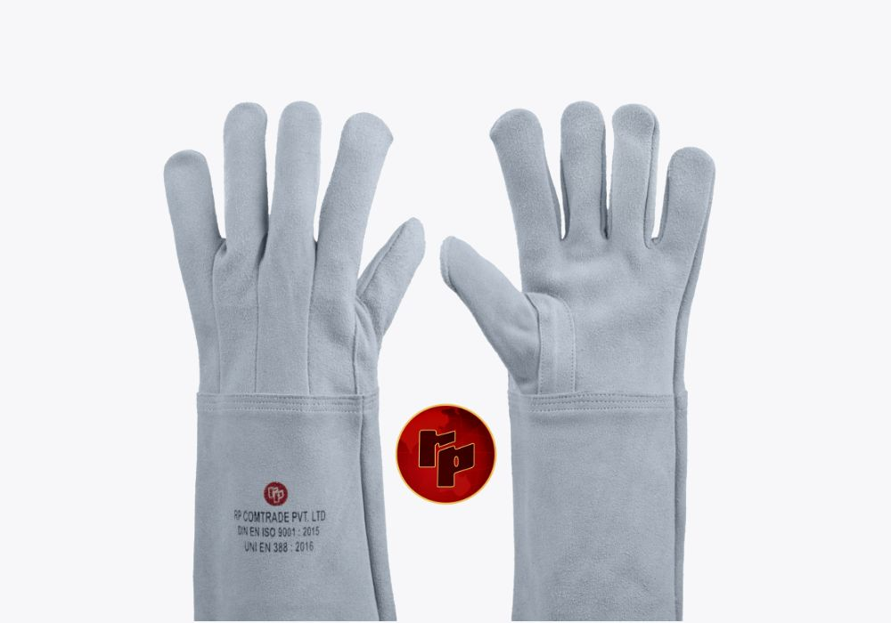RPC092A_NATURAL SPLIT CLUTE WELDING GLOVES