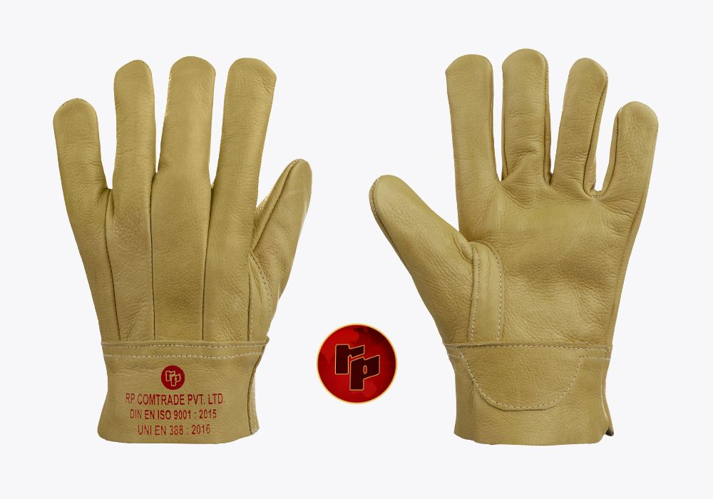 RPC092C_COLOURED CHROME CLUTE WELDING GLOVES