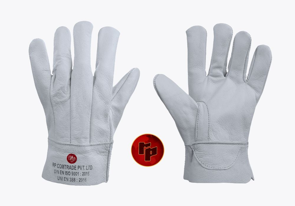 RPC092D_NATURAL CHROME CLUTE WELDING GLOVES