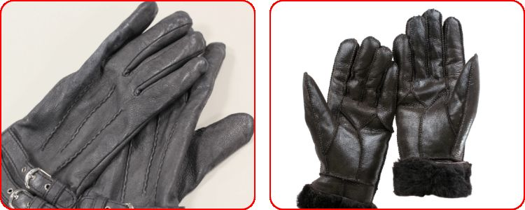 What do leather gloves protect against