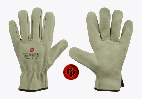 RPC 013._WATER RESISTANT COLOURED CHROME DRIVING GLOVES