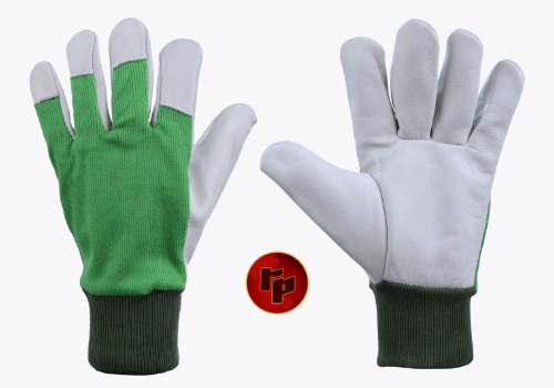 RPC029 A-1_CHROME DRIVING GLOVES WITH KNITTED FABRIC