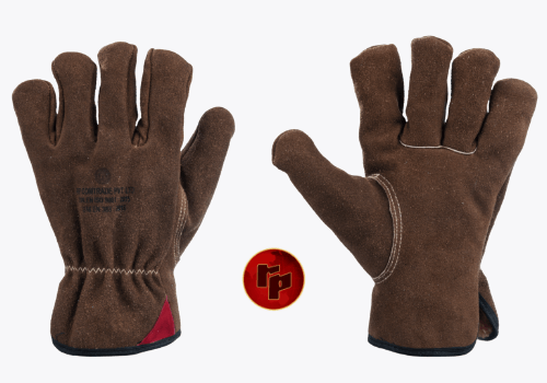 RPC050 BR._COLOURED SPLIT DRIVING GLOVES WITH ROUND THUMB